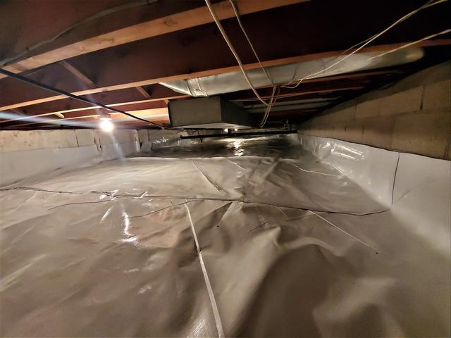 Installing CleanSpace In a Crawl Space With Closed-Cell Spray foam and SmartJacks - Neversink, NY