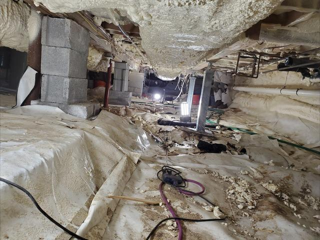 Installing 30 SmartJacks Foundation Repair Systems In A Crawl Space - Woodstock, NY