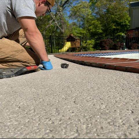 Making A Pool Deck Level With The Help Of PolyLevel - Chester, NY