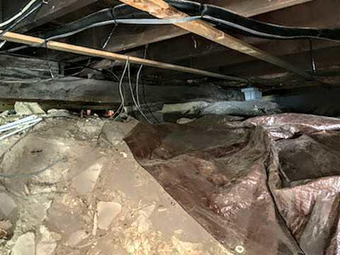 Tightly Sealing a Crawl Space & Improving The Structural Integrity - Wappingers Falls, NY