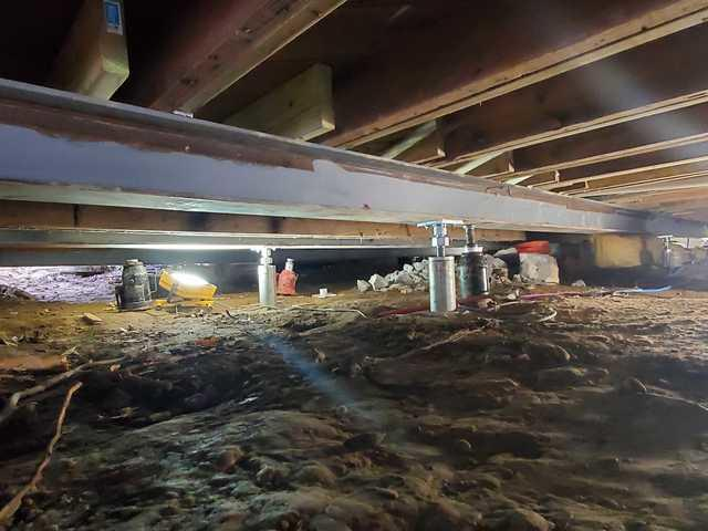 Sistering Floor Joists and Replacing The Main Girder On a Home - New Paltz, NY