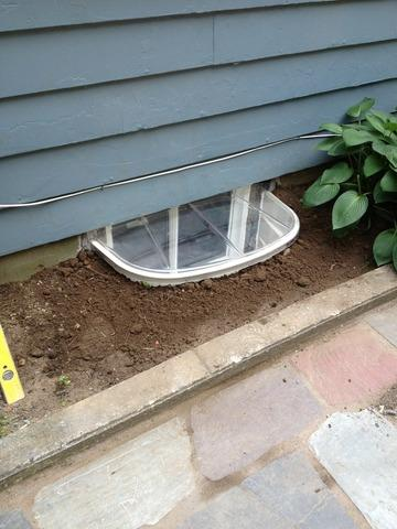 Installing a Basement Window Well in Tappan, NY