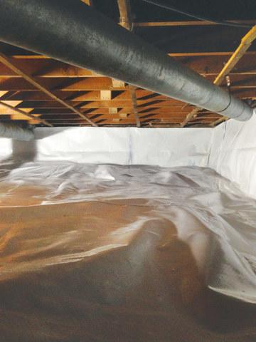 Crawlspace transformation in Kingston NY