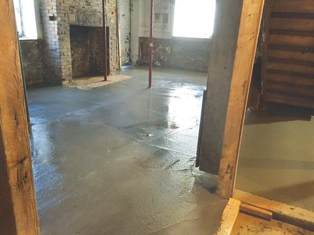 Waterproofing & New Concrete Floor