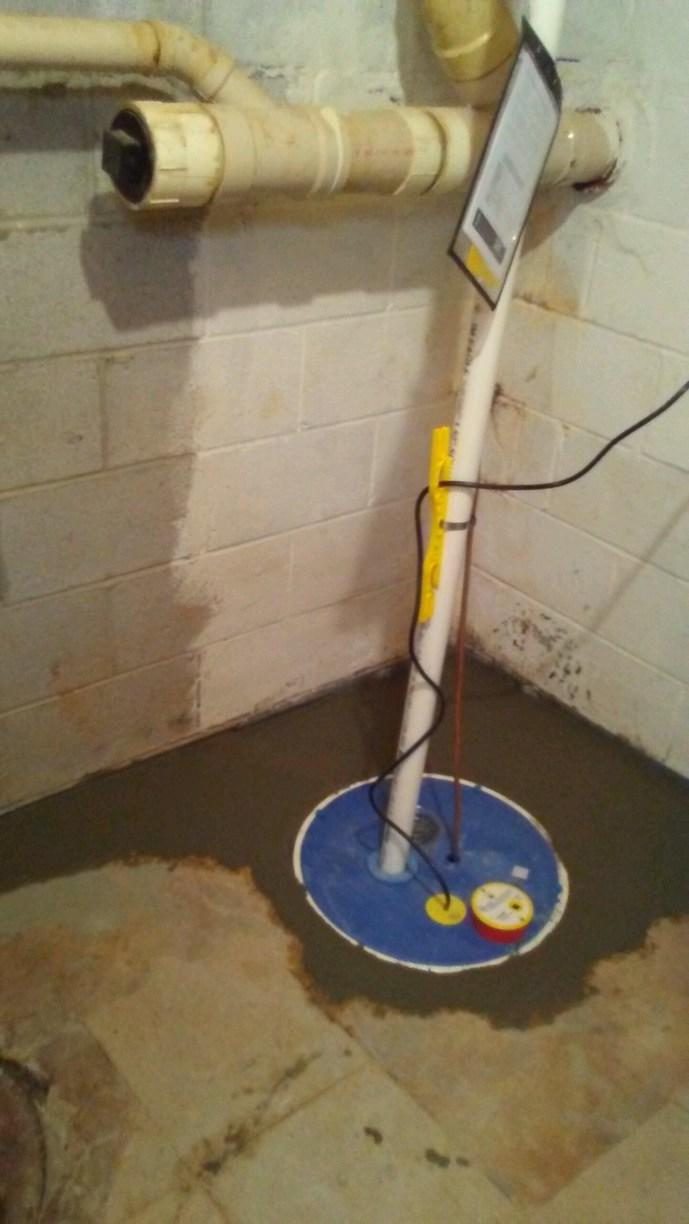 SuperSump System and a SaniDry Sedona = Dry Basement in Owings Mills, MD - After Photo