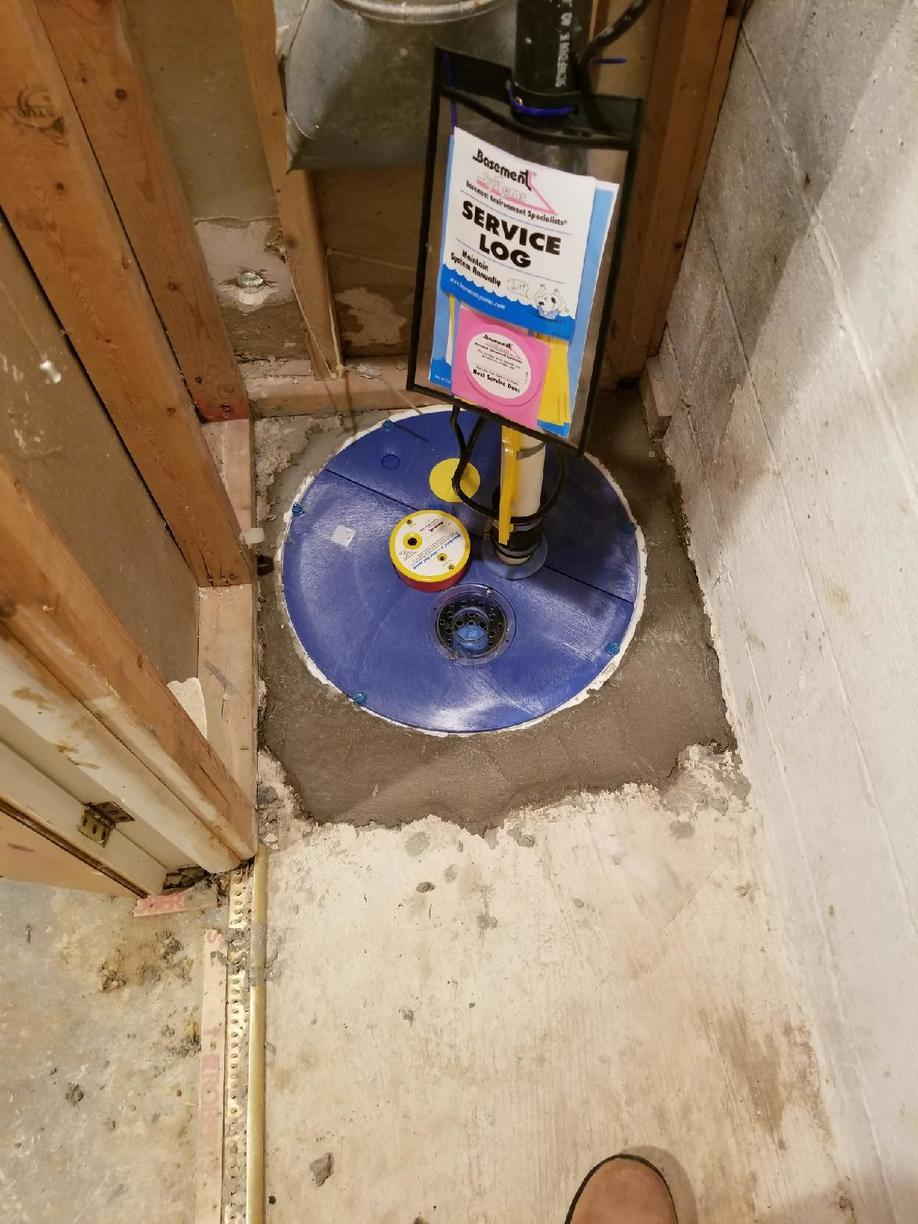 Sump system makeover in Cockeysville, MD - SuperSump System to the Rescue!! - After Photo
