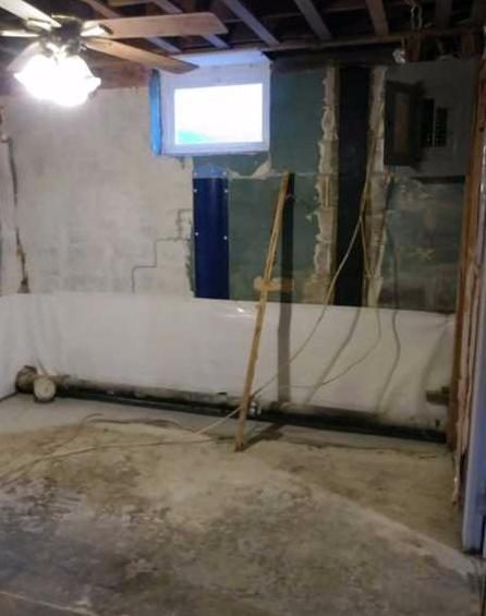 Waterproofing, Foundation Repair, and Finishing in Parkville MD - Before Photo
