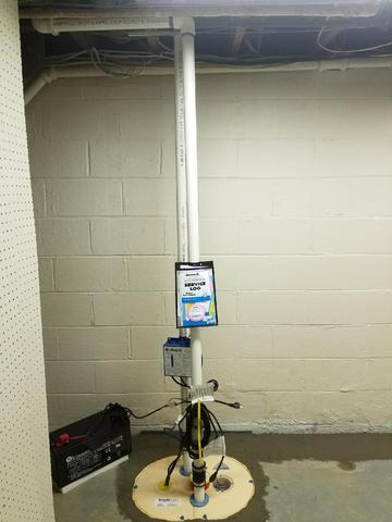 Wilmington, MD Sump Pump & Basement Waterproofed - After Photo