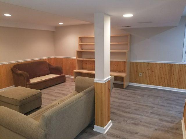 Waterproof Flooring Installed in Havertown, PA Basement