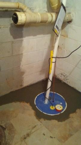 SuperSump System and a SaniDry Sedona = Dry Basement in Owings Mills, MD