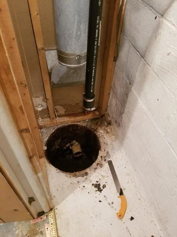 Sump system makeover in Cockeysville, MD - SuperSump System to the Rescue!!