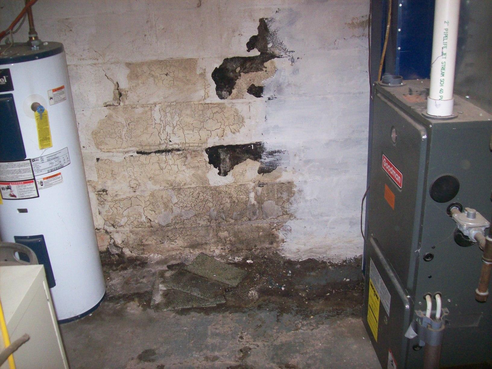 Basement Waterproofing in Morgantown, WV - Before Photo