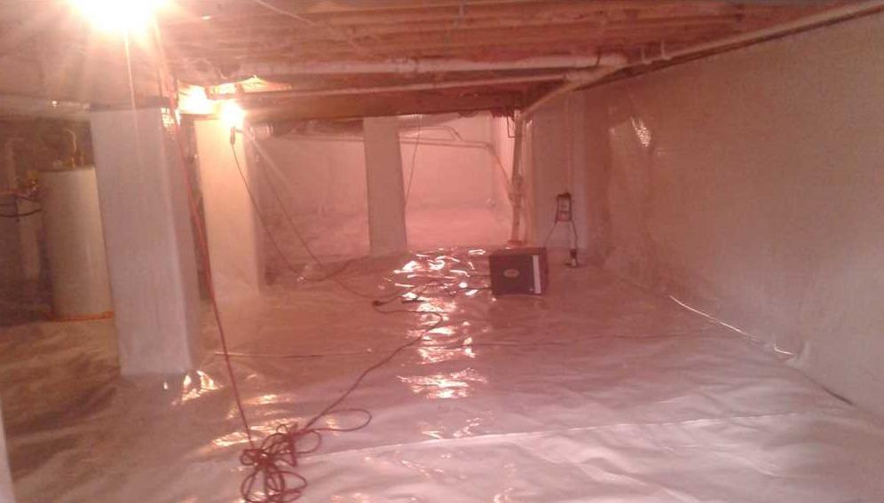 Basement Waterproofing in Saint Albans WV - After Photo