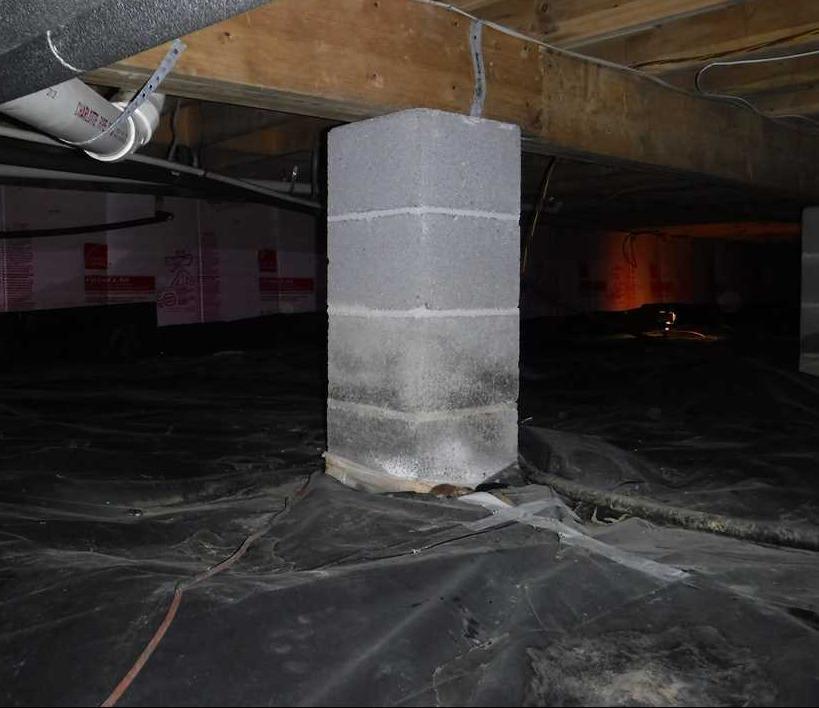 Waterproofing and Encapsulating Crawlspace in Berkeley Springs, WV - Before Photo
