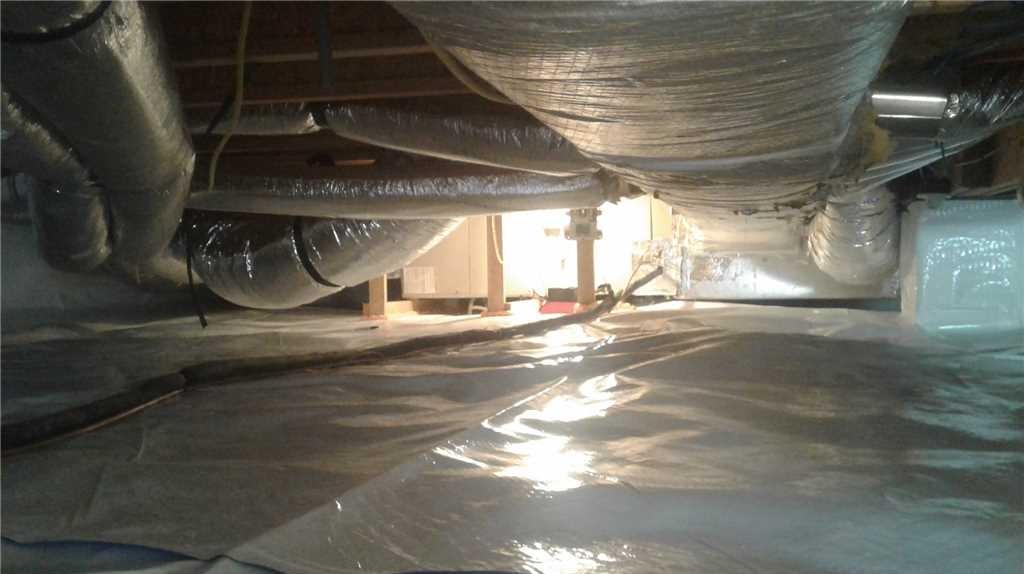 Waterproofing Crawlspace in Elkins, WV - After Photo