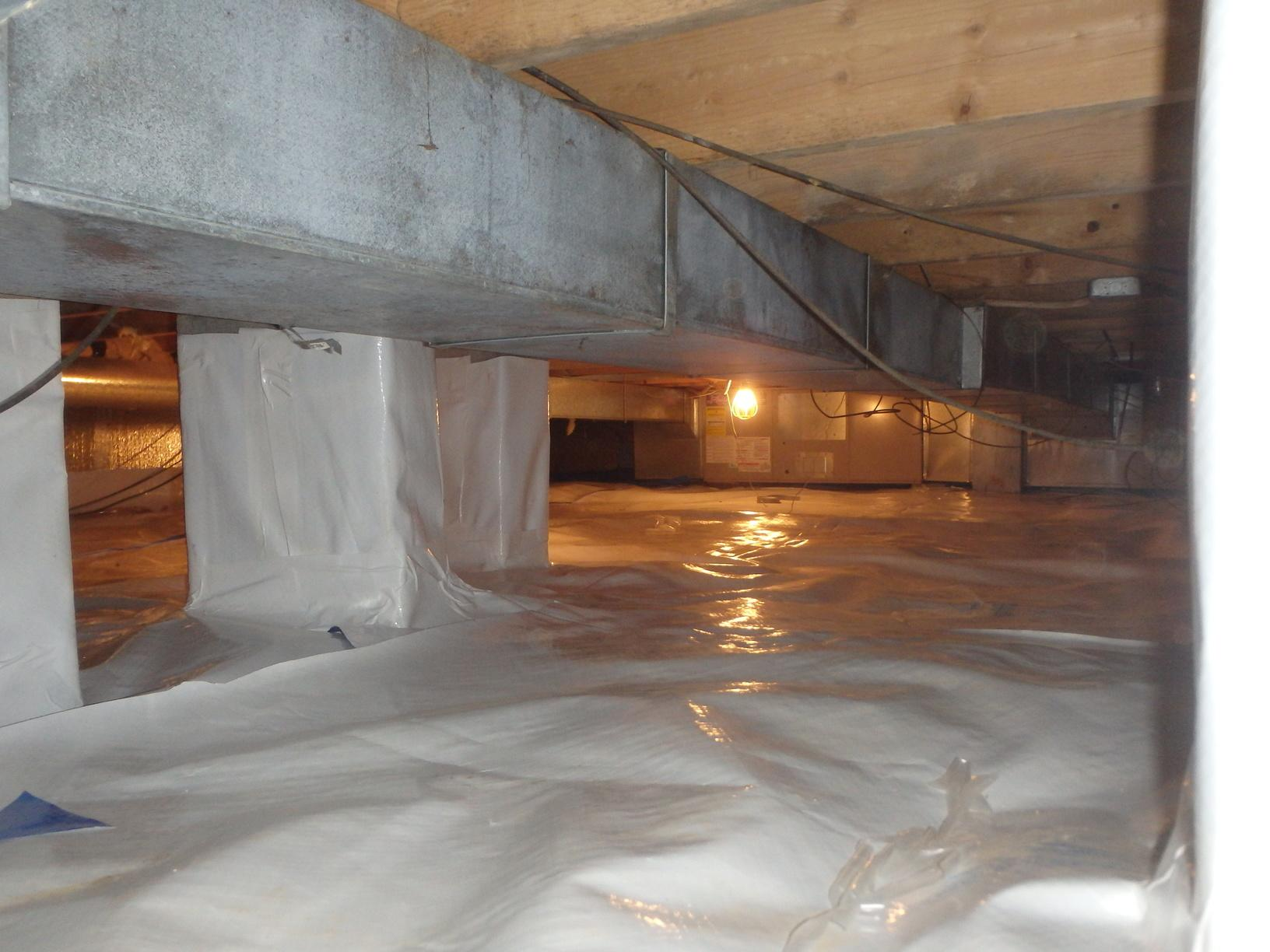 A Clean and Dry Solution to a Wet Crawl Space in Elkview, West Virginia - After Photo