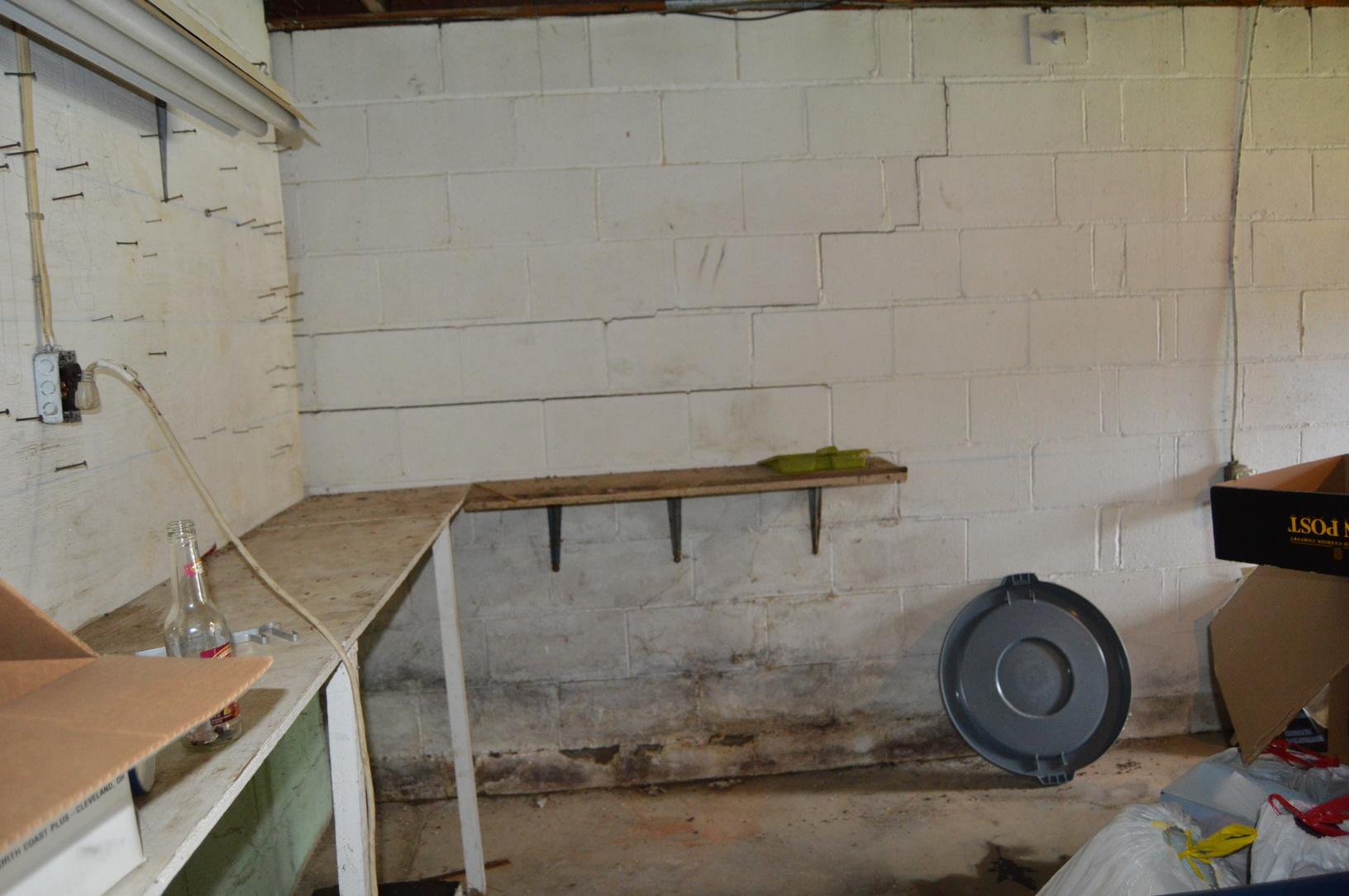 Before & After:Fixing a Bowing Wall in Clarksburg, West VIrginia - Before Photo
