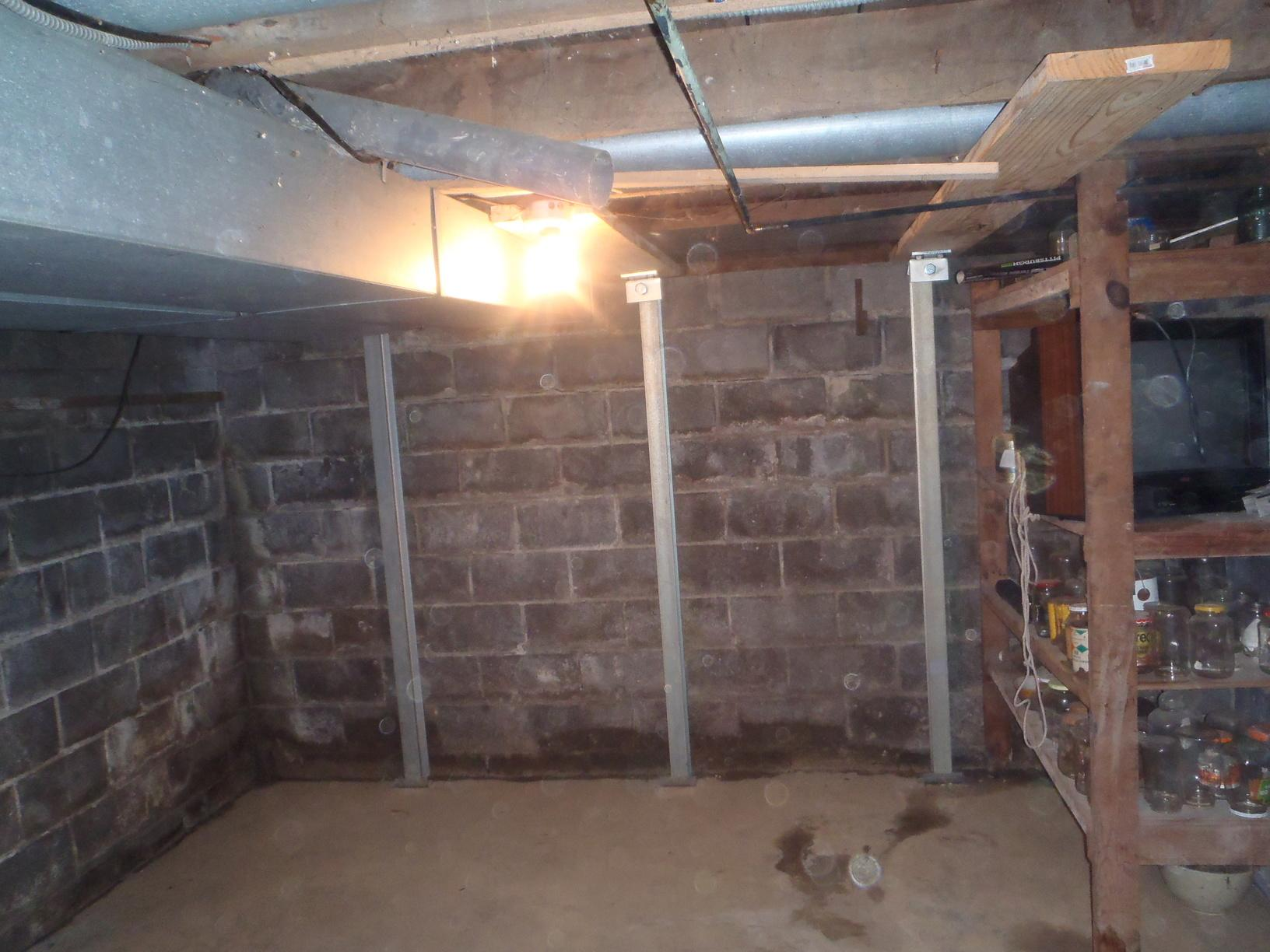 Foundation Cracks Fixed with PowerBrace in Morgantown, WV. - After Photo