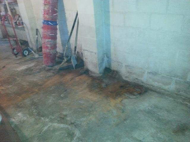 Fixing A Water Problem In A Basement in Mount Hope, West Virginia