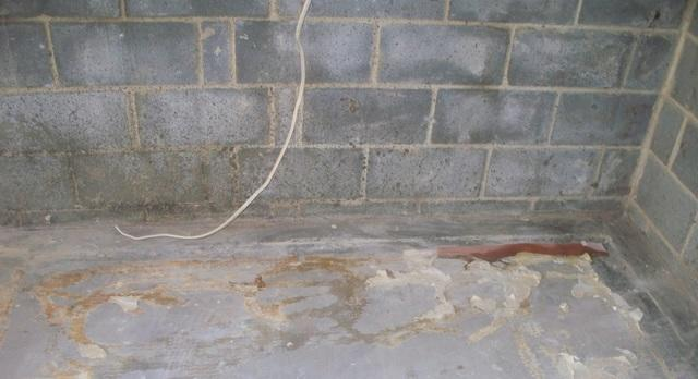 Basement Waterproofing in Charles Town, WV - Before Photo