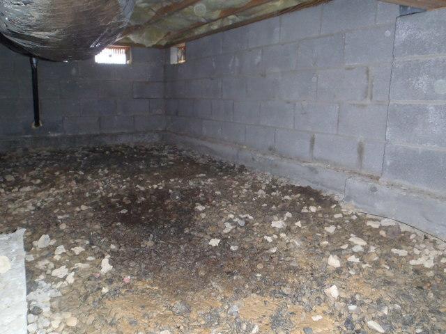 Crawl Space Encapsulation in Martinsburg, WV - Before Photo