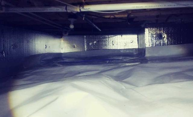 Complete encapsulation of a crawlspace in Flat Top WV