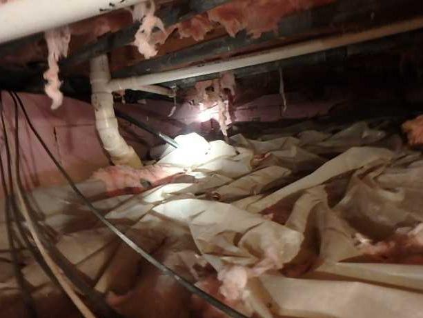 Crawl Space Encapsulation of Apartment Building in Davis WV