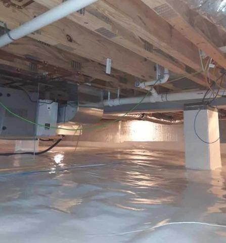 Encapsulating Crawlspace in Moatsville, WV
