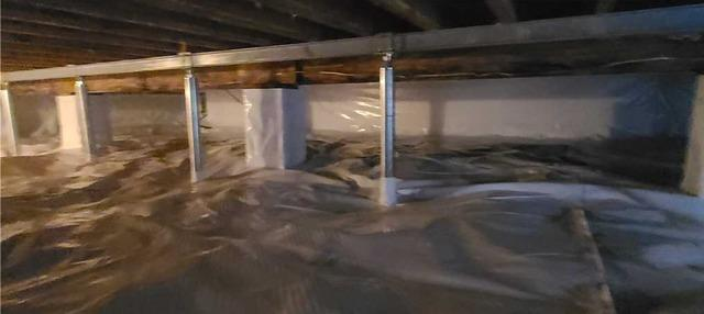 Waterproofing and Encapsulating Crawlspace in Shepherdstown, WV - After Photo