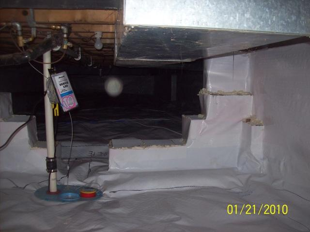Crawl Space Encapsulated in Sandyville, West Virginia