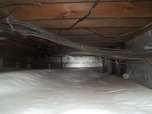 Waterproofing A Crawl Space In Snowshoe, West Virginia