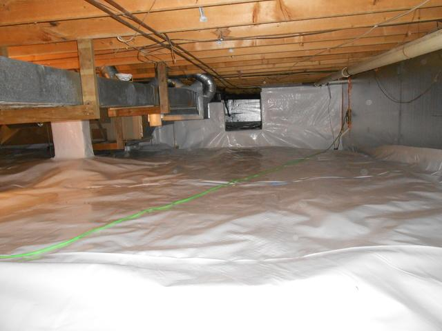 Rivesville Crawl Space Stabilized with SmartJacks