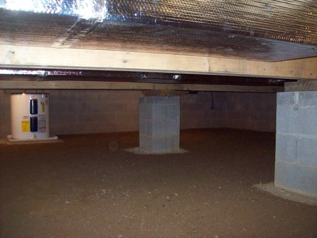Crawl Space Improvements in Hacker Valley, WV.
