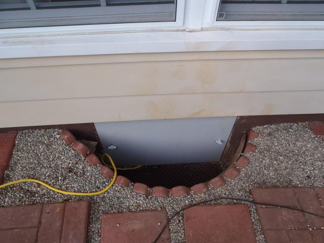 EverLast Door Improves Crawl Space in Evans, WV.