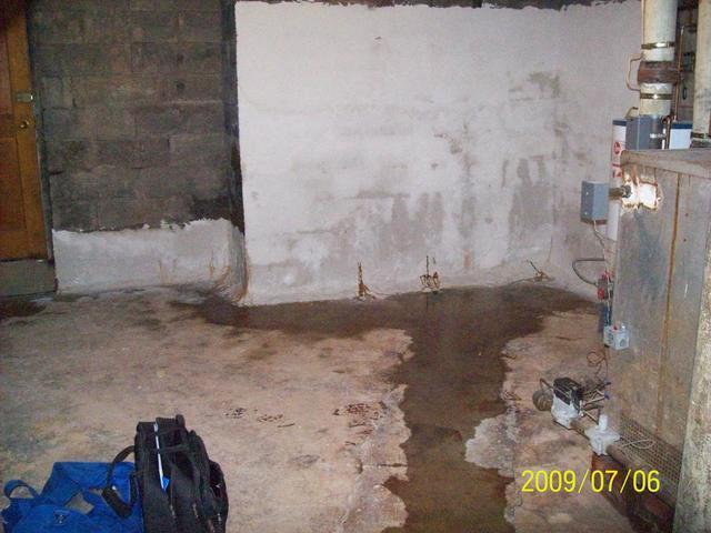 Before & After: Salem, WV Basement Gets Waterproofed