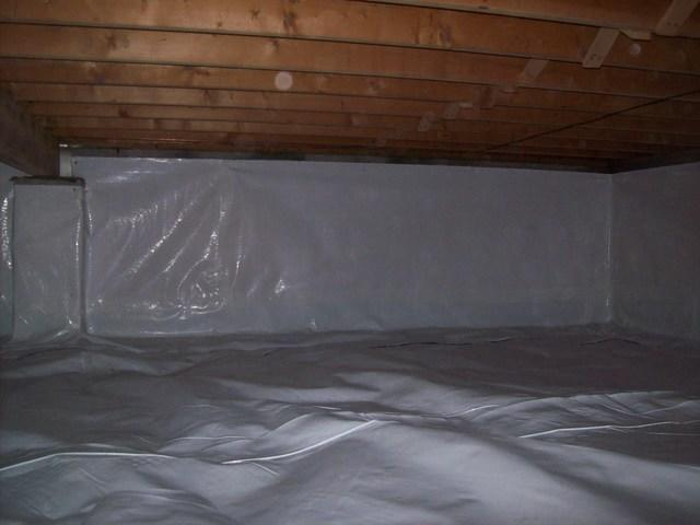 Crawl Space Waterproofed and Encapsulated in Grafton, WV.