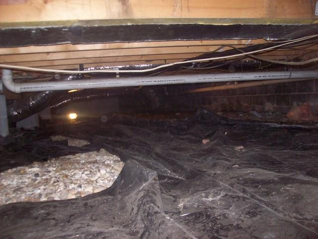 Before & After Crawl Space in Hurricane WV