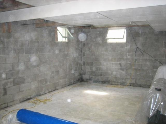 Basement Waterproofing work - Before Photo
