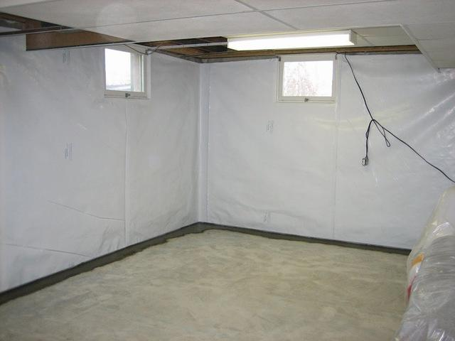 Basement Waterproofing work - After Photo