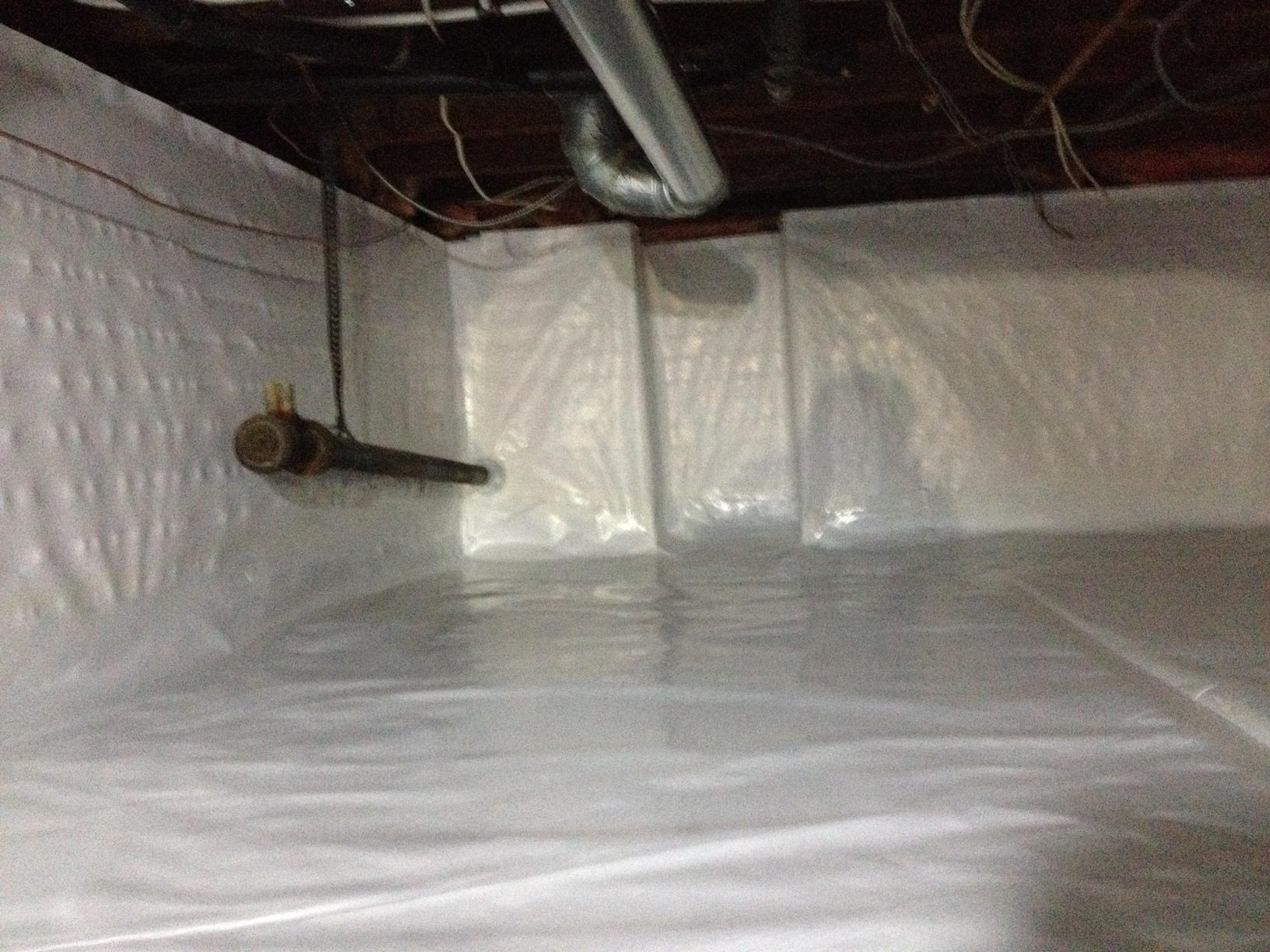 Crawlspace Vapour Barrier in White Rock, BC - After Photo