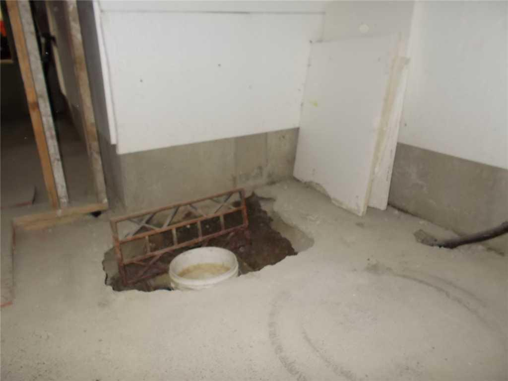 Sump Pump Installation in Surrey, BC Crawlspace - Before Photo