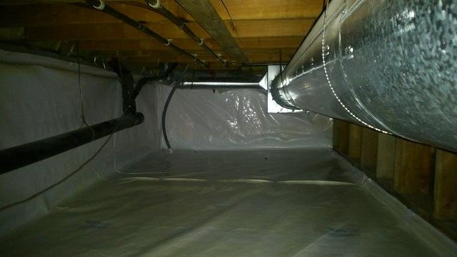 Crawlspace Vapour Barrier - South Surrey, BC - After Photo