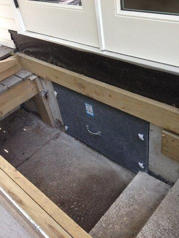 Polyboard Crawlspace Door Install in North Vancouver, BC
