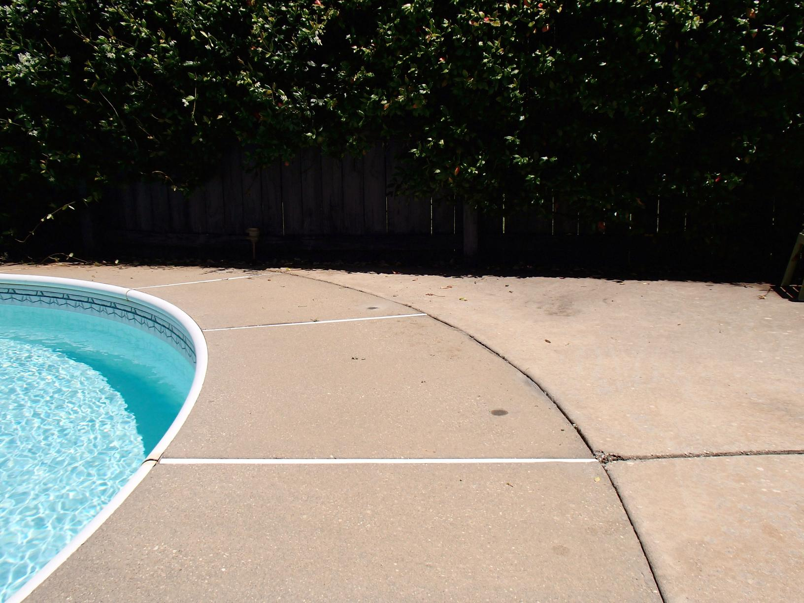 Pool Deck Lifted with PolyLevel - After Photo