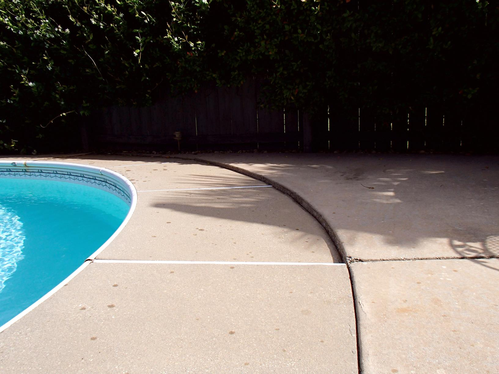 Pool Deck Lifted with PolyLevel - Before Photo