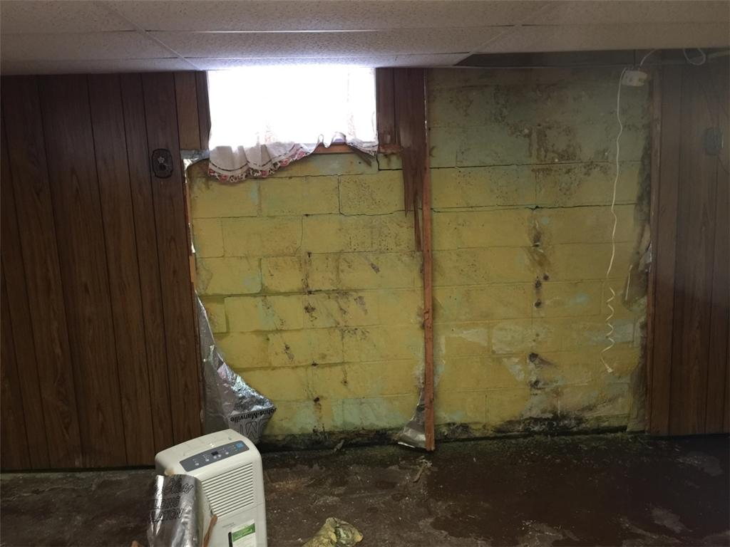 Bowing Walls: Knoxville, Il - Before Photo