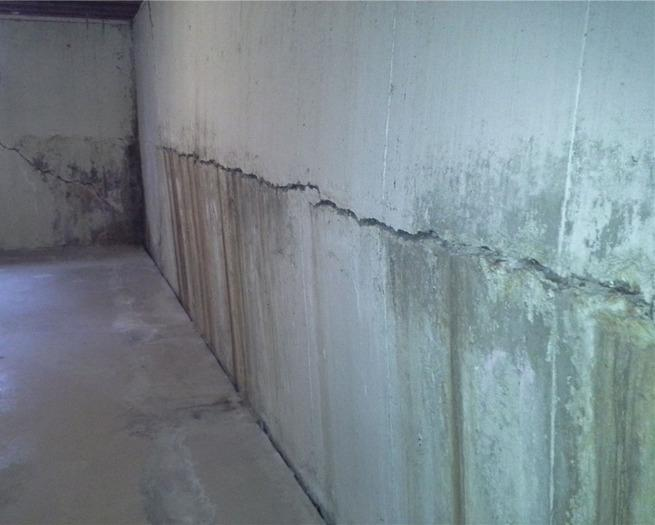 Severe Bowing Wall in Haverford, PA - Before Photo