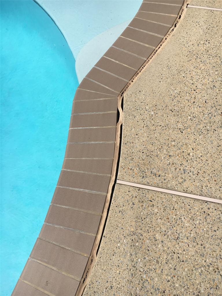 Sinking Poolside Concrete in Lincoln University, PA - Before Photo
