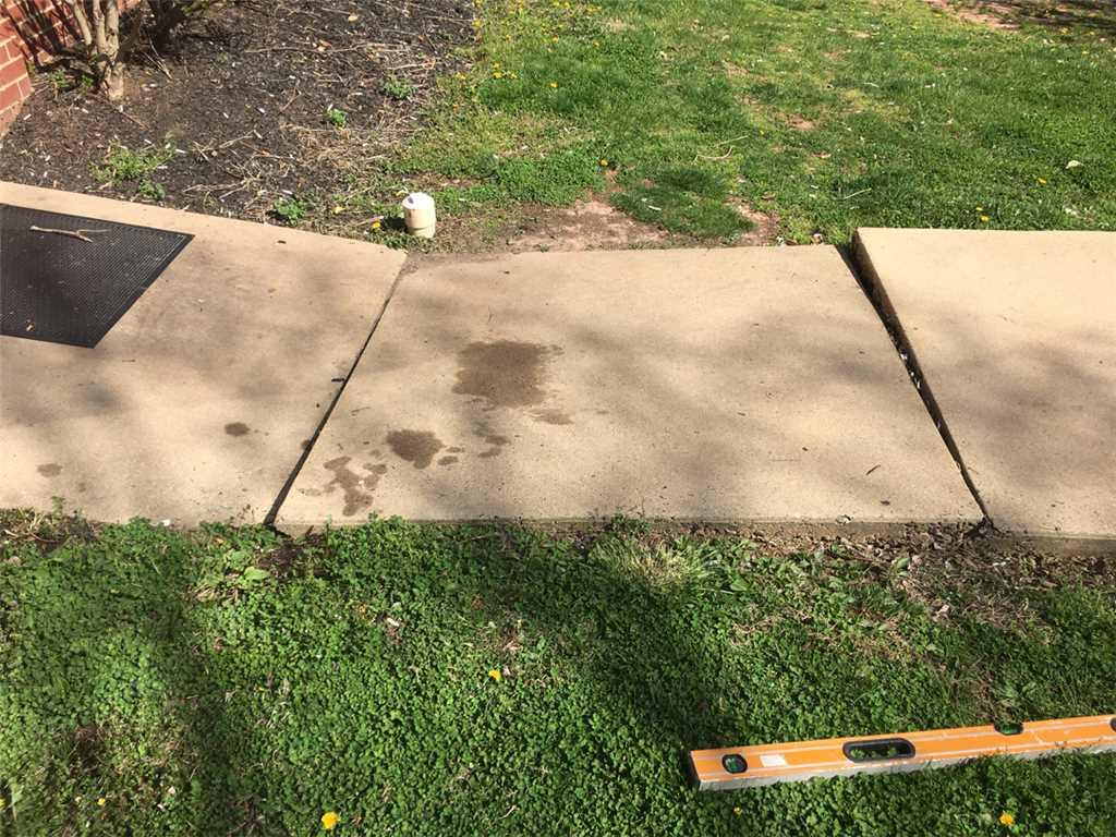 Uneven Walkway in Lancaster, PA - Before Photo