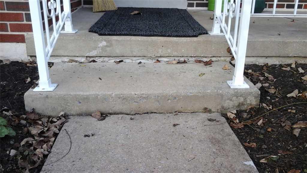 Concrete Repair in Elizabethtown, PA - Before Photo
